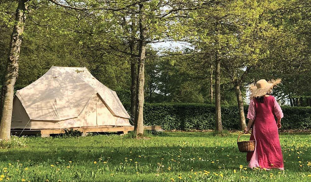 Delux tent accommodation Sri Vast Center Sweden