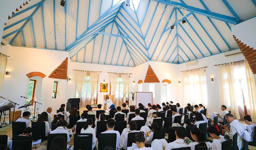 Satsang Hall Sri Vast Center India Satsang
