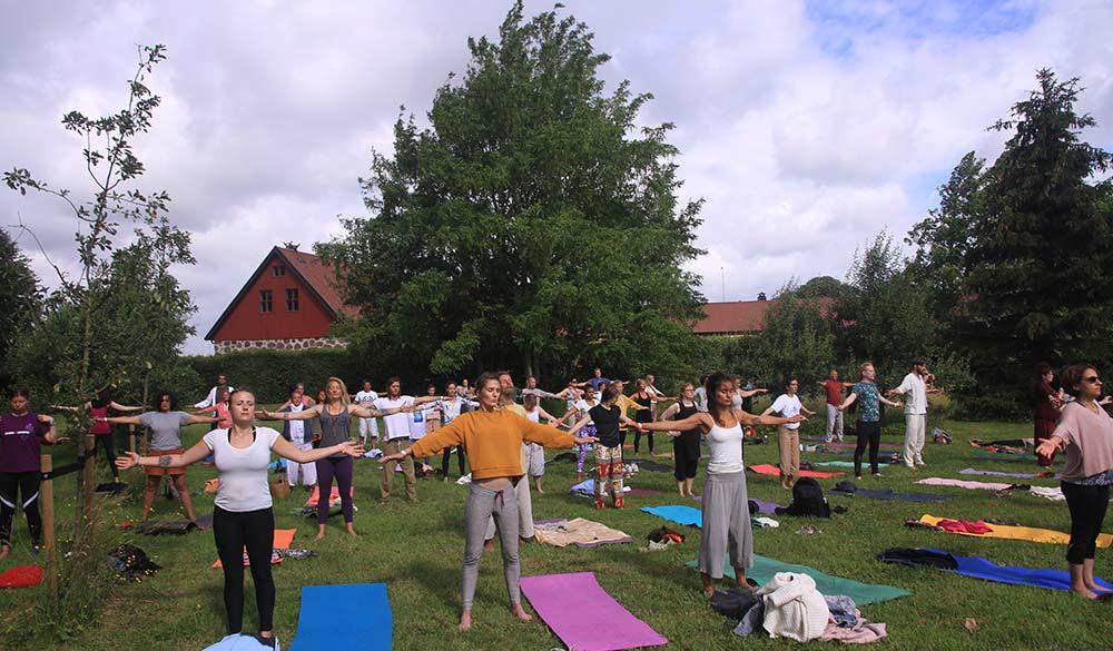 Yoga in Sri Vast Center Sweden Park