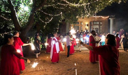 celebration at Sri Vast Center