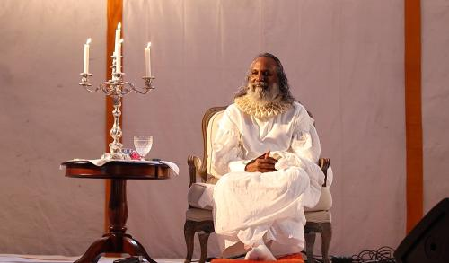 guruji in the stage