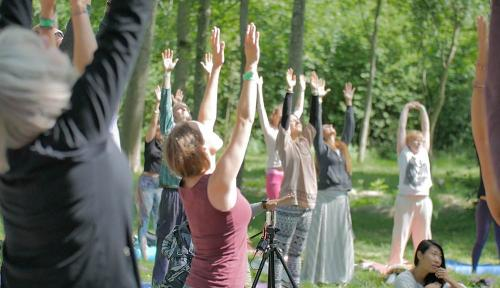 in sweden eslov yoga practising